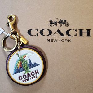 Coach New York Glitter Bag Charm - NWT